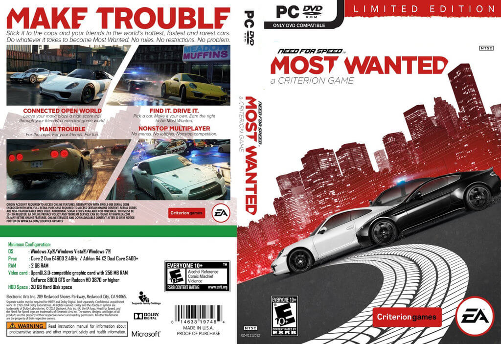 Need For Speed Most Wanted 2 PC Game Free Download ISO