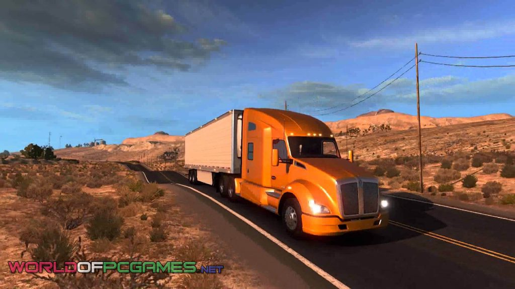 American Truck Simulator 2016 Free Download Latest PC Game By Worldofpcgames.net