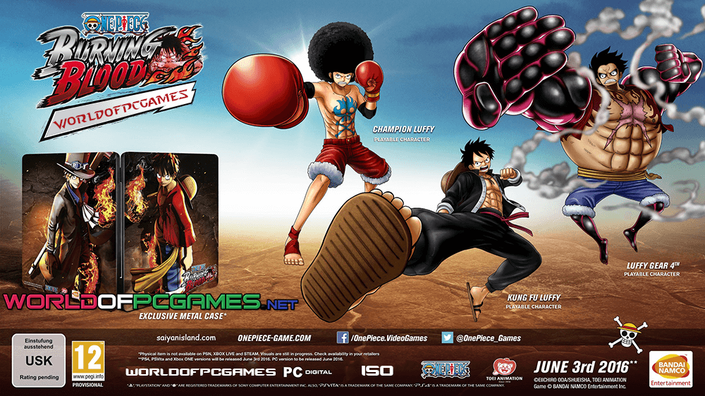 One Piece Burning Blood Free Download PC Game Full ISO