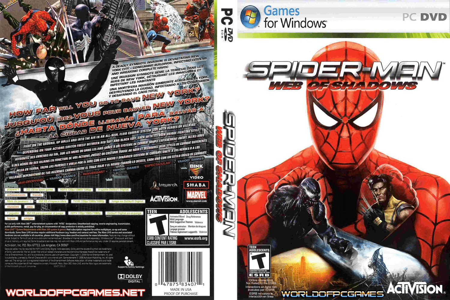 Free Download Spider-Man: Web of Shadows Full Version - RonanElektron