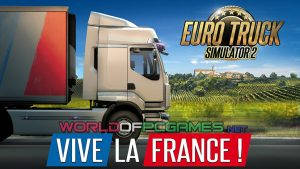 Euro Truck Simulator 2 VIVE LA France Free Download COver PC Game By Worldofpcgames.net