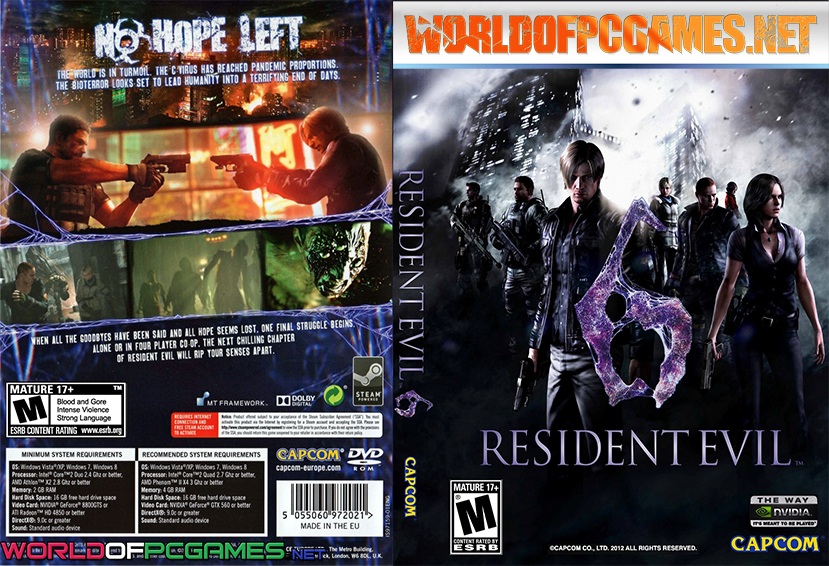 Resident Evil 6 Free Download PC Game By Worldofpcgames.net