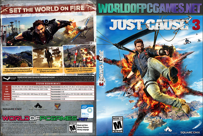 Just Cause 3 Free Download PC Game By Worldofpcgames.net