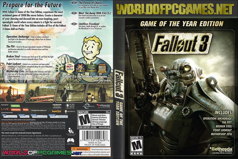 Fallout 3 Game of the Year Edition PC Download | Full