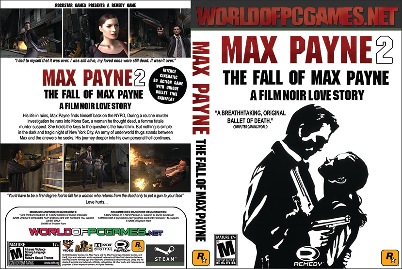 Max Payne 2 Free Download PC Game By Worldofpcgames