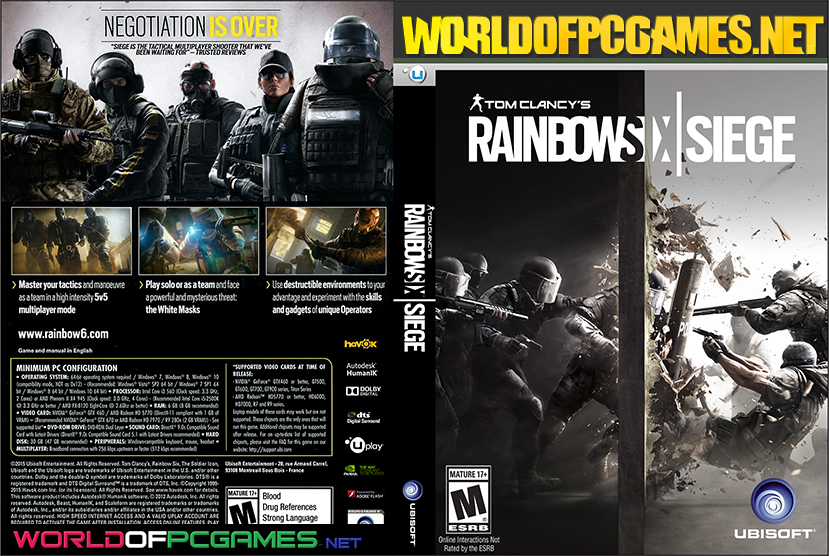 Tom Clancy's Rainbow Six Siege Free Download PC With All DLC