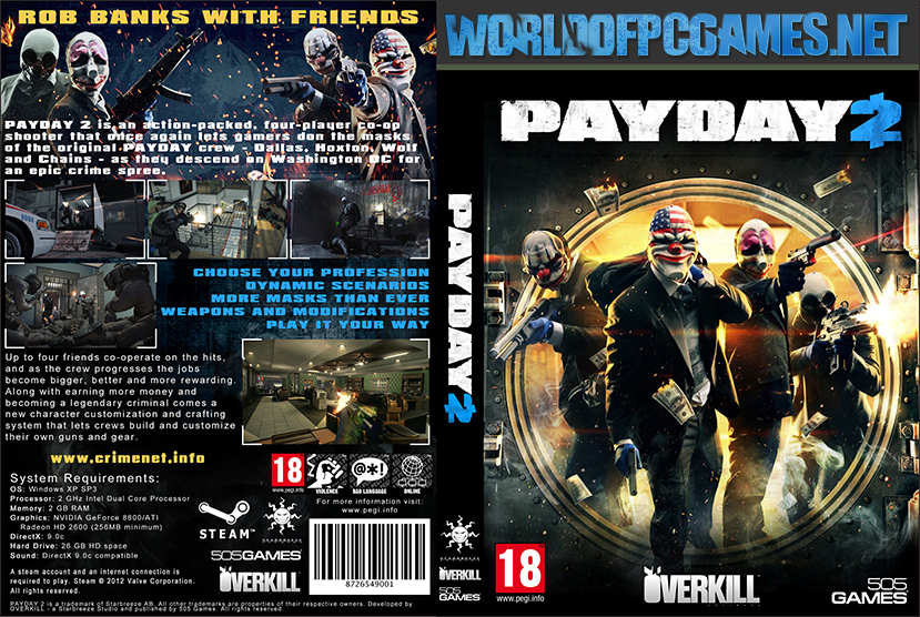 Payday 2 Free Download PC Game By Worldofpcgames.net