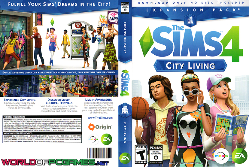The Sims 4 City Living Free Download PC Game By Worldofpcgames.net