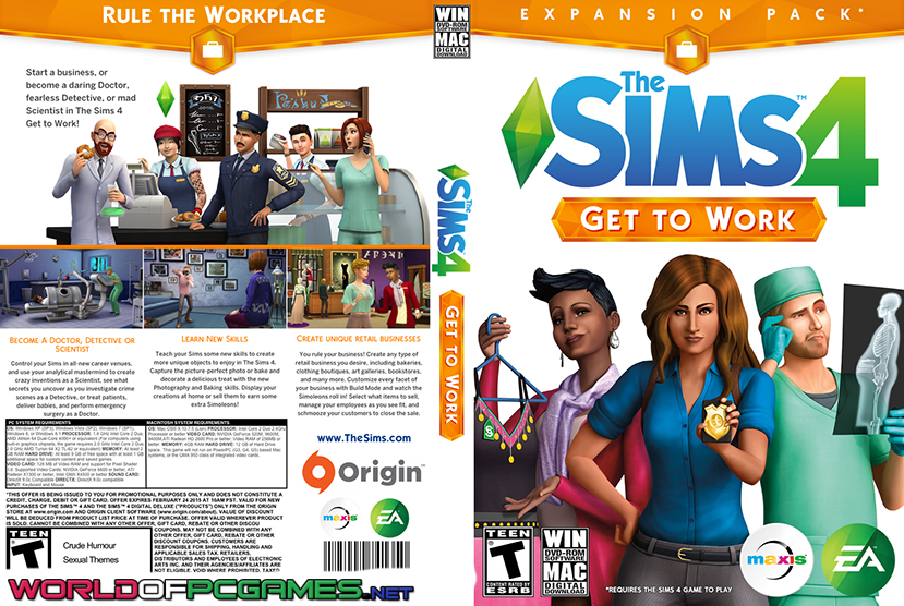 the sims 4 get to work free download latest expansion. Black Bedroom Furniture Sets. Home Design Ideas
