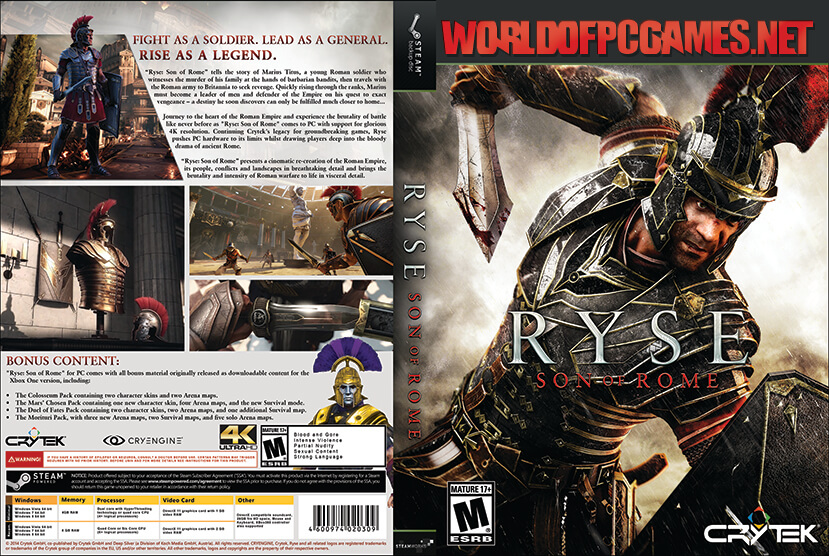 Ryse Son Of Rome Free Download PC Game By Worldofpcgames.net