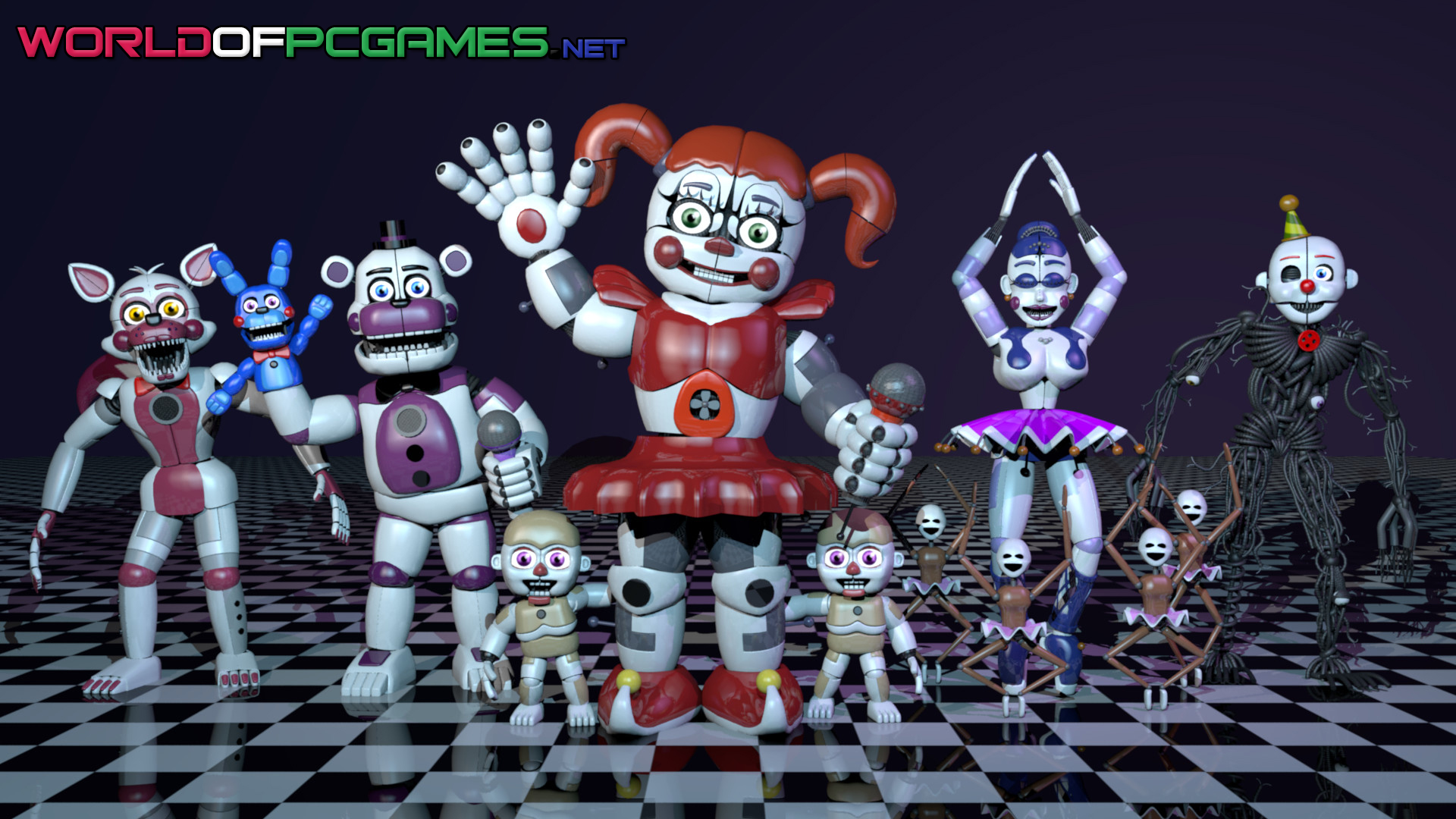Five Nights At Freddys Sister Location Free Download PC Game By Worldofpcgames