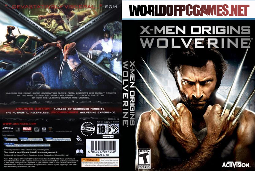 X Men Origins Wolverine Free Download PC Game By Worldofpcgames.net