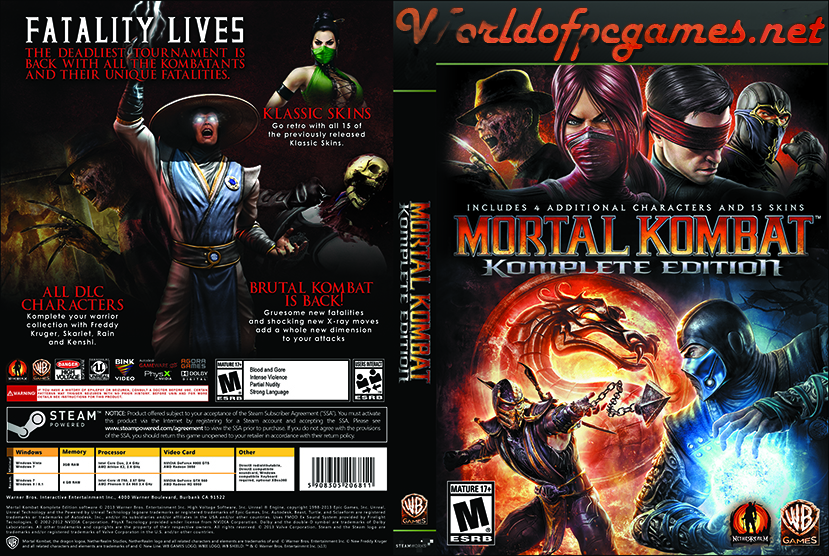 Mortal Kombat Free Download PC Game By Worldofpcgames.net
