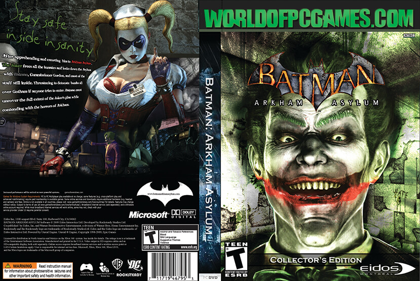 batman arkham asylum free download goty