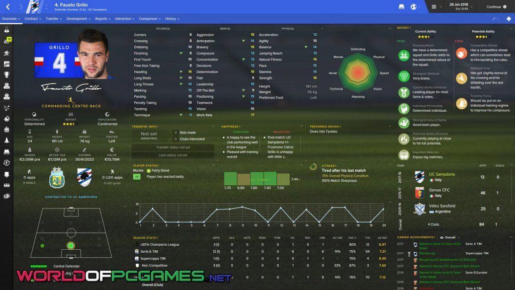 Football Manager 2018 Free Download PC Game By Worldofpcgames.com