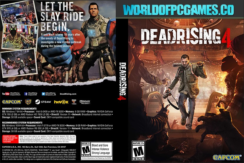 Dead Rising 4 Free Download PC Game By Worldofpcgames.co
