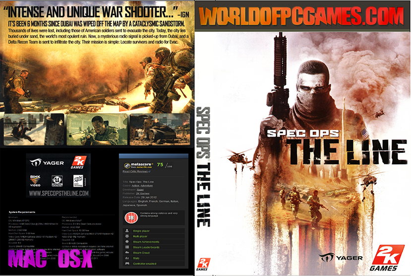 Spec Ops The Line Mac OSX Free Download Game By Worldofpcgames.com