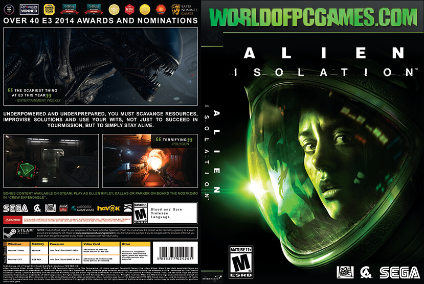 Alien Isolation Free Download PC Game By Worldofpcgames.com