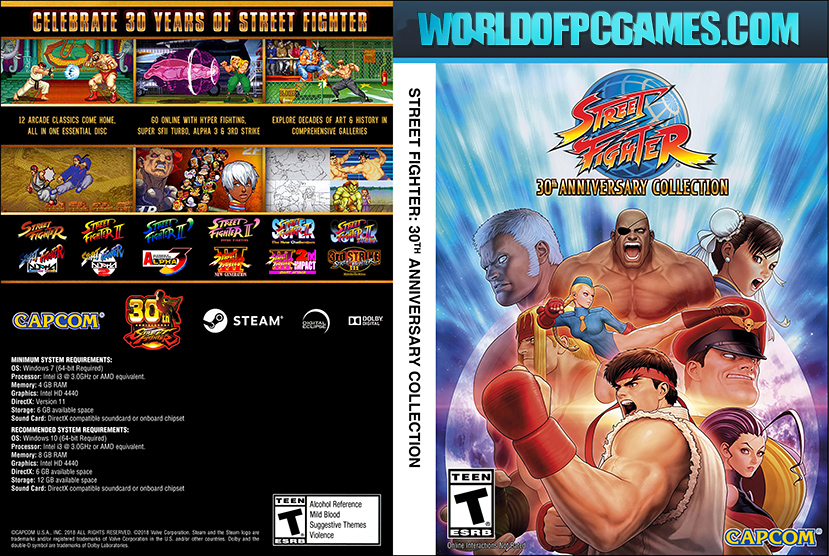 Street Fighter 30th Anniversary Collection Free Download PC Game By Worldofpcgames.com