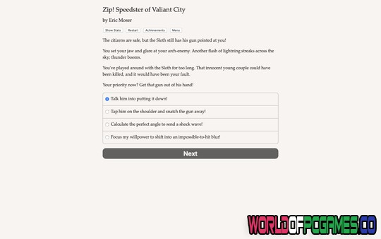 Zip Speedster of Valiant City Free Download PC Game By Worldofpcgames.co